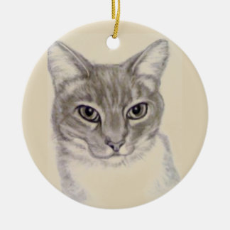 Tabby Cat by Carol Zeock セラミックオーナメント