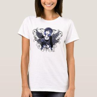 Tabithaのビクトリアンな天使のハートスクロールタンク Tシャツ
