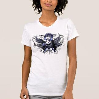 Tabithaのビクトリアンな天使のハートスクロール Tシャツ