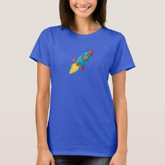 Tabithaフィンクの女性の暗いロケット Tシャツ