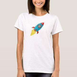Tabithaフィンクの女性の軽いロケット Tシャツ