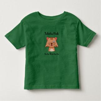Tabithaフィンク: 1枚の目の幼児のTシャツを持つ猫 トドラーTシャツ