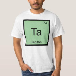 Tabitha一流化学要素の周期表 Tシャツ