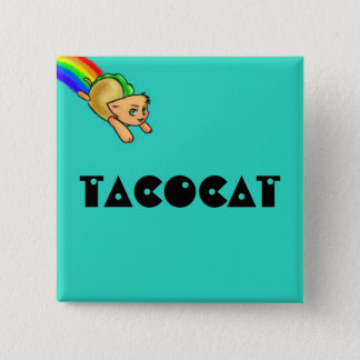 Tacocatの正方形ボタン 缶バッジ
