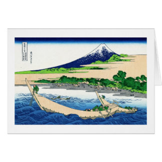 Tago湾、Tokaido Hokusai富士のEjiriの海岸 カード