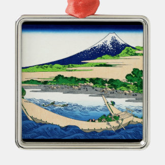 Tago湾、Tokaido Hokusai富士のEjiriの海岸 メタルオーナメント