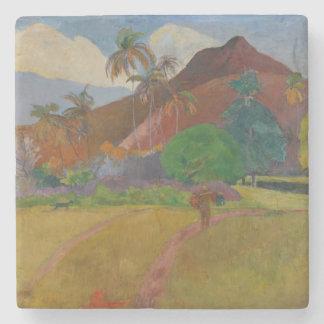 Tahitianの景色1891年(キャンバスの油) ストーンコースター