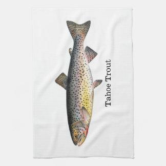Tahoeのマスの魚 キッチンタオル