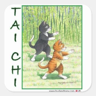 Taiのキー猫のステッカーの芽及びトニー スクエアシール