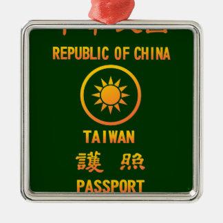 Taiwan Passport メタルオーナメント