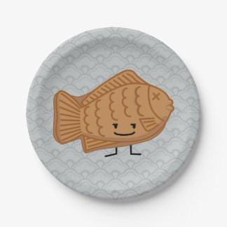 Taiyakiの日本のな魚型のケーキのフェスティバルの食糧 ペーパープレート