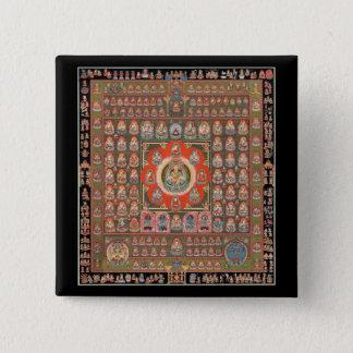 Taizokaiの曼荼羅 5.1cm 正方形バッジ