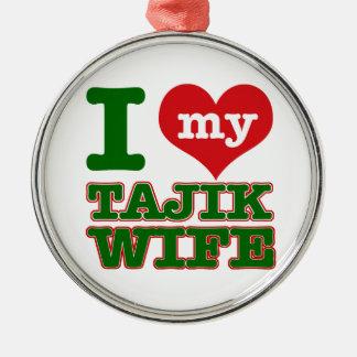 Tajikazstanの妻 メタルオーナメント
