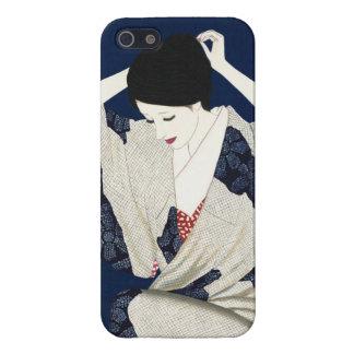 Takasawa Keiichiの毛のクラシックな日本の女性女性 iPhone SE/5/5sケース