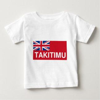 Takitimuの旗(マオリニュージーランド) ベビーTシャツ