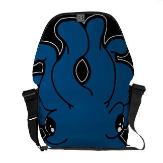 Takoの(青い)メッセンジャーバッグ クーリエバッグ