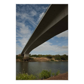 Takutu上のブラジルにガイアナを接続する橋 ポスター