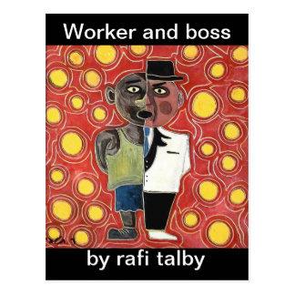 talby rafiによる労働者そしてマネージャー ポストカード