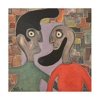 talby rafiによる2人 ウッドウォールアート