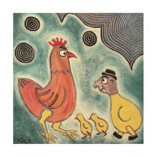 talby rafiによる3羽のひよこ ウッドウォールアート