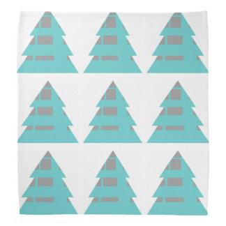 Talili著幾何学的でモダンなクリスマスツリー バンダナ