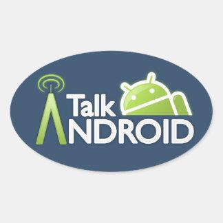 TalkAndroidのステッカー 楕円形シール