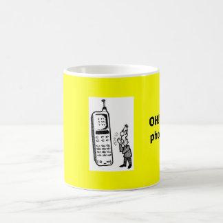 Talking_on_Cell_Phone_1、オハイオ州!  私は電話を得ました! コーヒーマグカップ