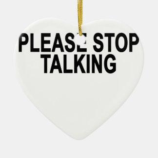 TALKING.pngをストップ セラミックオーナメント