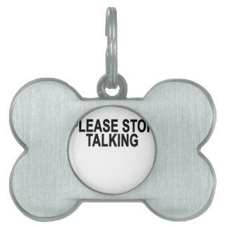 TALKING.pngをストップ ペットネームタグ