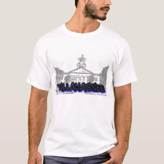 Tallahasseeの落書きの基本的なTシャツ、大きい白 Tシャツ