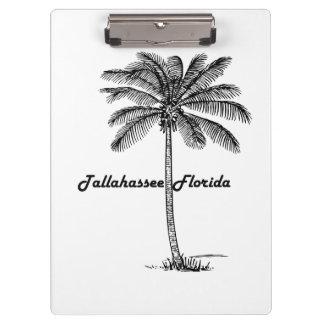 Tallahassee及びやし白黒デザイン クリップボード