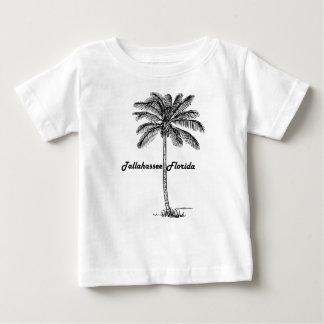 Tallahassee及びやし白黒デザイン ベビーTシャツ