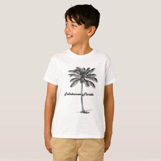 Tallahassee及びやし白黒デザイン Tシャツ