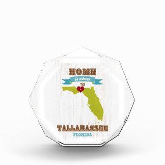 Tallahassee、フロリダの地図-ところにハートはです家 表彰盾
