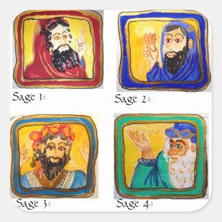 Talmudの勉強の援助: 4賢人 スクエアシール