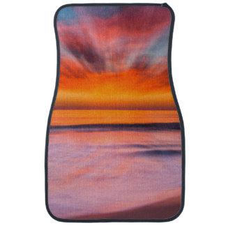 Tamarackのビーチからの日没の抽象芸術 カーマット