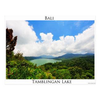 Tamblingan湖の郵便はがき ポストカード