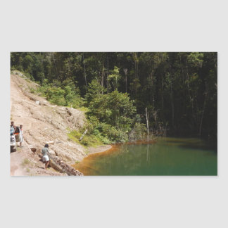 Tambrauw Moutainsの熱帯雨林 長方形シール