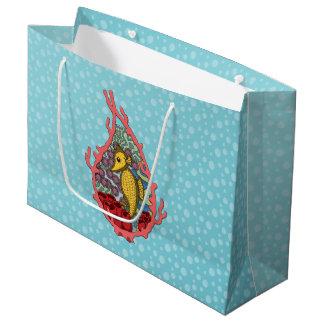 Tangaタツノオトシゴのギフトバッグ ラージペーパーバッグ