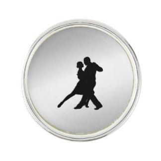 Tango Dancers Silhouette ラペルピン