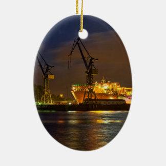 Tankshipのハンブルク造船所-海軍ライン セラミックオーナメント