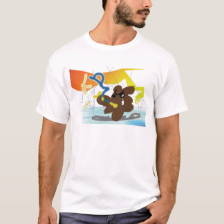 TANUKI fights with daemon in Computer! Tシャツ