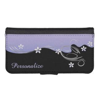 Tanzaniteの花の薄紫のデザイン iPhoneSE/5/5sウォレットケース