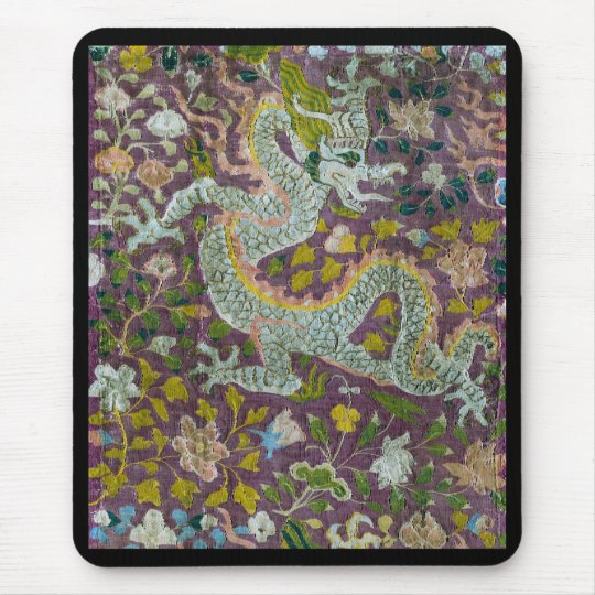 Tapestry with Dragon and Flowers マウスパッド