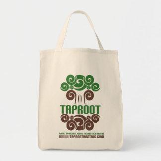 Taprootのオーガニックな食料雑貨のトート! トートバッグ