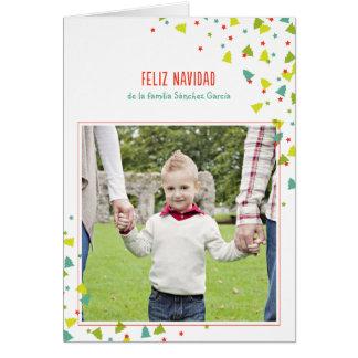 Tarjeta de Navidad deのlaのFoto del �rbol deのconfeti カード