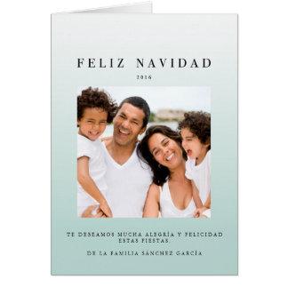 Tarjetas Navidenass de Foto | Ombré Azul カード