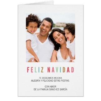 Tarjetas Navidenass de Foto | Saludos Coloridos カード
