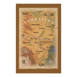Tarnationでか。 (おもしろいな地図) ポスター