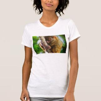 Tarsierの奇妙で、珍しい女性のティー Tシャツ